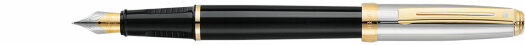 Ручка Sheaffer Prelude Palladium Plated Cap Black Barrel 22k Gold Plated Trim (SH E033740),(SH E033750)