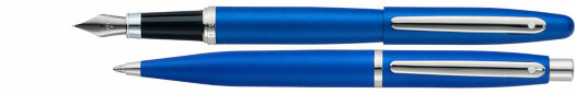 Набор (перо, шарик) Sheaffer VFM Neon Blue NT (SH E594014350)