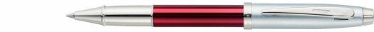 Ручка-роллер Sheaffer 100 Brushed Chrome Plated Cap Red Barrel Nickel Plate (SH E1930751-30)