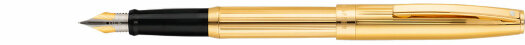 Перьевая ручка Sheaffer Sagaris Fluted Gold Tone Gold Tone Trim (SH E0947440),(SH E0947450)
