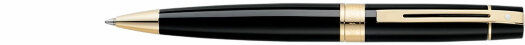 Ручка Sheaffer 300 Glossy Black featuring Gold Tone Trim (SH E2932550)