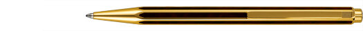 Шариковая ручка Caran d'Ache Hexagonale Gold Plated G10 Microns and Ecaille Chinese Lacque (CR 5892-485)